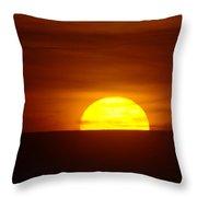 A Slow Sunset Throw Pillow