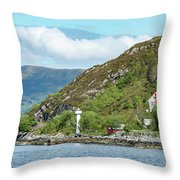 A Small House With A Navigational Throw Pillow