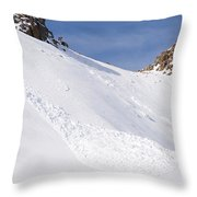 A Small Slab Avalanche With Two Guides Throw Pillow