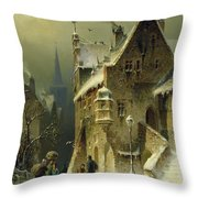 A Small Town In The Rhine Throw Pillow