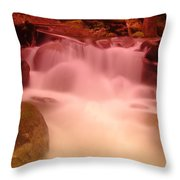A Small Waterfall Along The Old North Cascade Highway  Throw Pillow