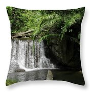 A Small Waterfall Throw Pillow