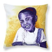 A Smile For You From Haiti Throw Pillow