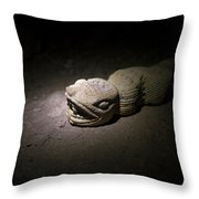 A Snake Pre-hispanic Stone Sculpture Throw Pillow