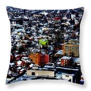 A Snowy City...buffalo Ny 2013 Throw Pillow