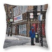 A Snowy Day On Wellington Throw Pillow