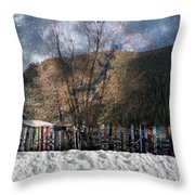 A Snowy Night Throw Pillow