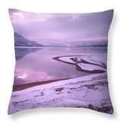 A Snowy Shore Throw Pillow