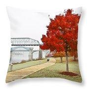A Soft Autumn Day Throw Pillow