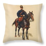 A Soldier Cavalerie Throw Pillow