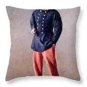 A Soldier Throw Pillow