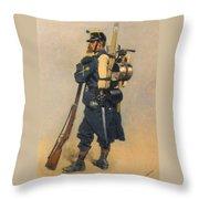 A Soldier IInfanterie Throw Pillow