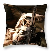 A Soldiers Friends Throw Pillow