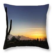 A Sonoran Sunrise  Throw Pillow
