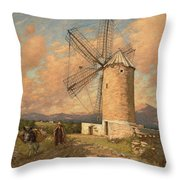 A Spanish Mill Throw Pillow