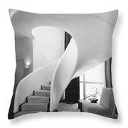 A Spiral Staircase Throw Pillow
