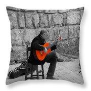 A Splash Of Flamenco  Throw Pillow