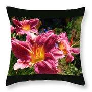 A Splash Of Lilies Throw Pillow
