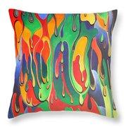 A Splash Of Paint Throw Pillow