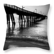 Sun Under Pompano Pier Throw Pillow