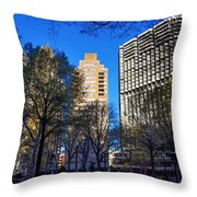 A Spring Day At Rittenhouse Square Throw Pillow