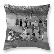 A Spring Day In Central Park Throw Pillow