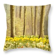 A Spring Day Throw Pillow by Jasna Buncic