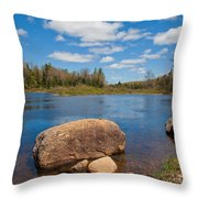 A Spring Day Under The Green Bridge Throw Pillow