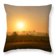 A Spring Morning At Gettysburg Throw Pillow