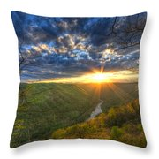 A Spring Sunset On Beauty Mountain In West Virginia. Throw Pillow