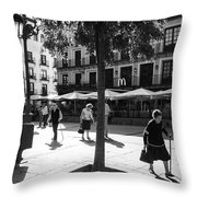 A Square In Toledo - Spain Throw Pillow