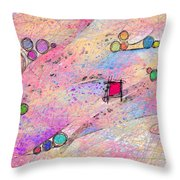 A Square Peg In A Round World Throw Pillow