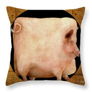 A Square Pig In A Round Hole... Throw Pillow