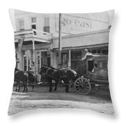 A Stagecoach In Tombstone Throw Pillow