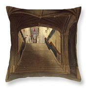 A Staircase, Windsor Castle, From Royal Throw Pillow