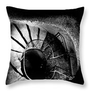 A Stairwell In The Catacombs Of Paris France Throw Pillow