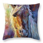A Stallion Throw Pillow