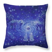 A Star Night Throw Pillow by Ashleigh Dyan Bayer