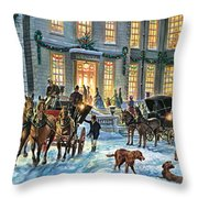 A Stately Christmas Throw Pillow