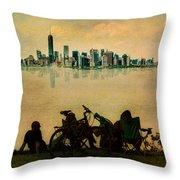 A Staten Island Fantasy Throw Pillow