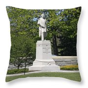 A Statue Of Colonel Thayer Throw Pillow