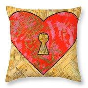 A Steamy Romance Throw Pillow