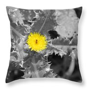 A Sticky Flower Throw Pillow