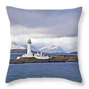 A Storm And The Lighthouse Throw Pillow