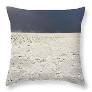 A Storm Approaching The Salt Pan Throw Pillow
