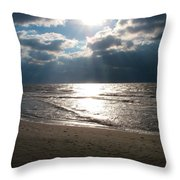 A Storm Is Brewing Over The Gulf Coast Throw Pillow