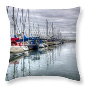 A Storm Was Brewing Throw Pillow