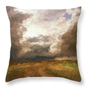 A Stormy Day Throw Pillow