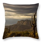 A Stormy Evening In The Superstitions  Throw Pillow