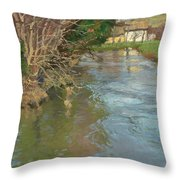 A Stream In Spring Throw Pillow
